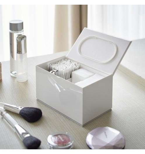 Rangement maquillage boite coton et coton tiges blanche - Boite pour ranger le maquillage ...