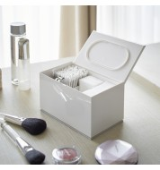 Boite rangement maquillage coton blanche Yamazaki
