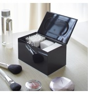 Boite rangement maquillage coton noir Yamazaki