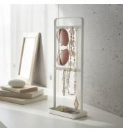 Porte bijoux en acier blanc Yamazaki
