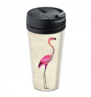 Mug isotherme personnalisable Flamant rose