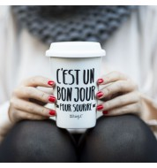 Mug take away un bon jour Mr Wonderful