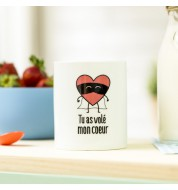Mug café Mr Wonderful Volé mon coeur
