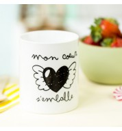 Mug Mr Wonderful Mon coeur s'emballe