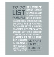 Affiche To do list familiale grise