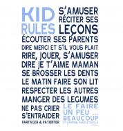 Sticker enfant Kid rules garçon bleu