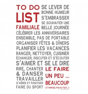 Sticker mural To do list familiale vintage