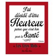 Affiche vintage Heureux rouge