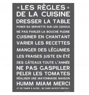 Affiche adhésive Manifeste cuisine gris