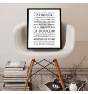 Affiche poster Bienvenue Douceur