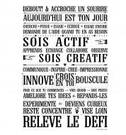 Affiche poster Releve le défi blanc