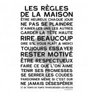 Affiche poster Regles de la maison cedre