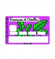 Sticker carte bancaire Oseille Valérie Nylin