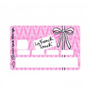 Sticker carte bancaire French Touch rose Valérie Nylin