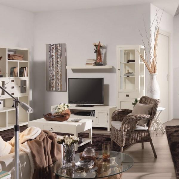 Buffet cuisine troit meuble rangement blanc for Meuble etroit cuisine