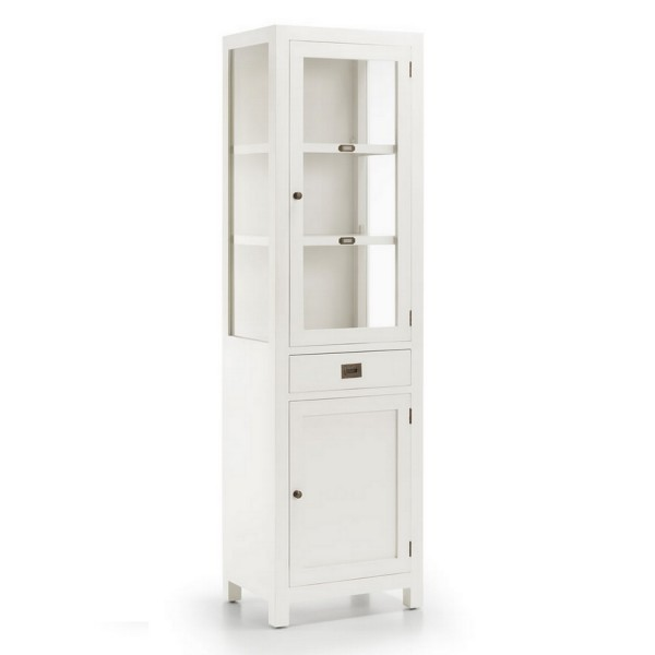 Buffet cuisine troit meuble rangement blanc - Buffet 2 portes blanc ...