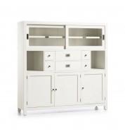 Buffet salle à manger bois laqué blanc 6 tiroirs + 5 portes