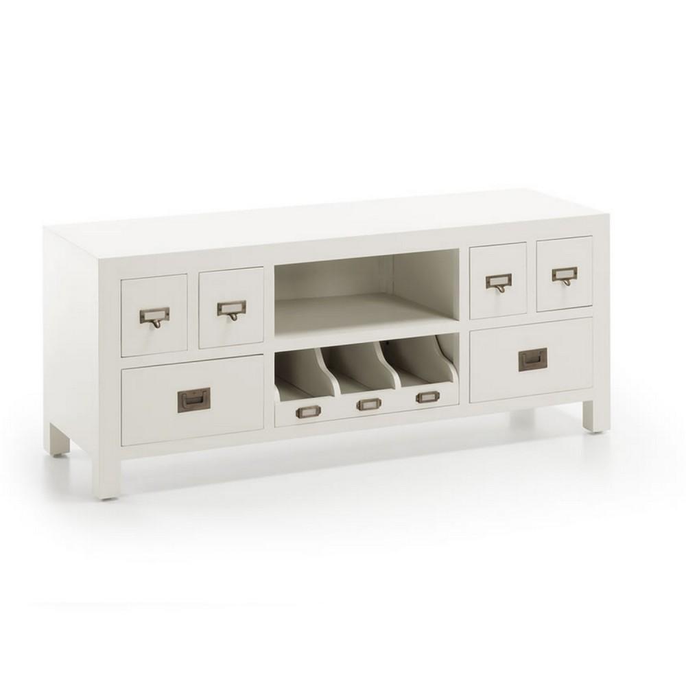 meuble tv blanc design - meuble pour télévision