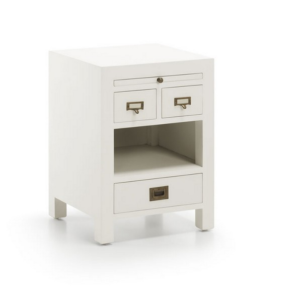 Table basse design avec plateau table de chevet - Table de chevet blanche ...