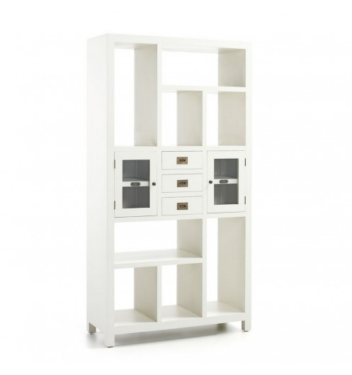 biblioth que blanche avec tiroirs meuble biblioth que. Black Bedroom Furniture Sets. Home Design Ideas