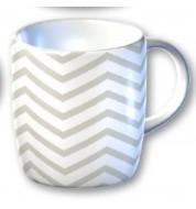 Mug graphique blanc Chevron