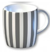 Mug graphique Stripe noir et blanc
