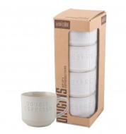 Tasse à café blanche Expresso 100ml (x4)