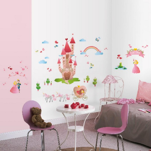 Sticker chambre fille sticker mural princesse - Tickers chambre fille princesse ...