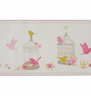 Frise papier peint Girls only Oiseaux