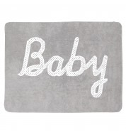 Tapis chambre bébé lavable gris