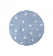 Tapis rond enfant étoile bleu