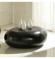 Table basse design galet noire