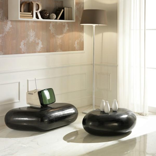 table basse galet table design salon. Black Bedroom Furniture Sets. Home Design Ideas