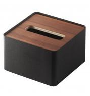 Boîte à mouchoirs noire carrée Yamazaki