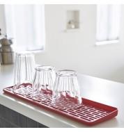 Egouttoir à vaisselle tablette rouge Yamazaki