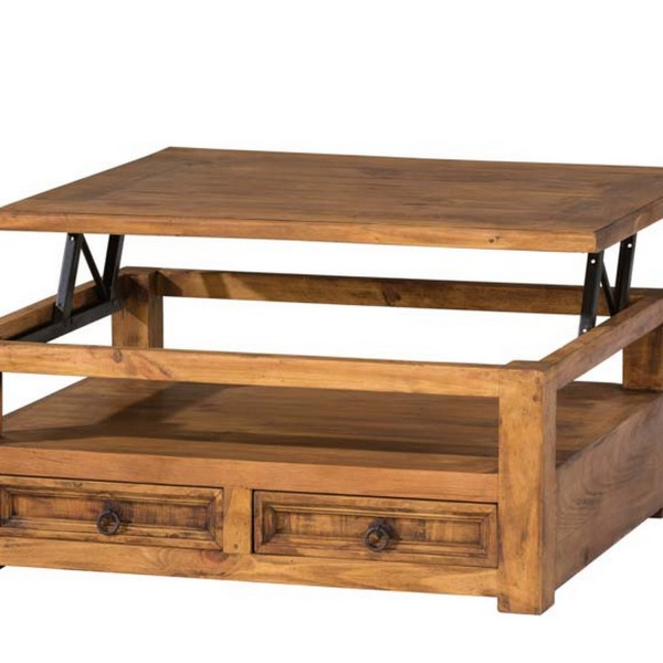 Table basse relevable bois  Myoc