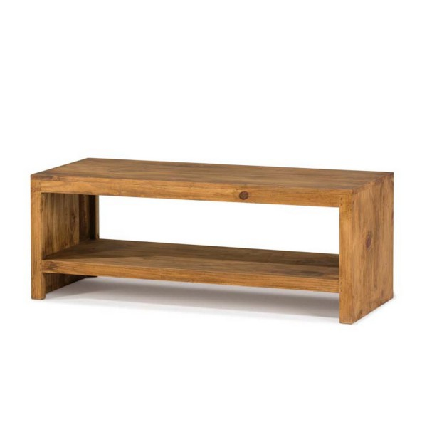 Meuble tv simple pin massif myoc - Muebles de entrada rusticos ...