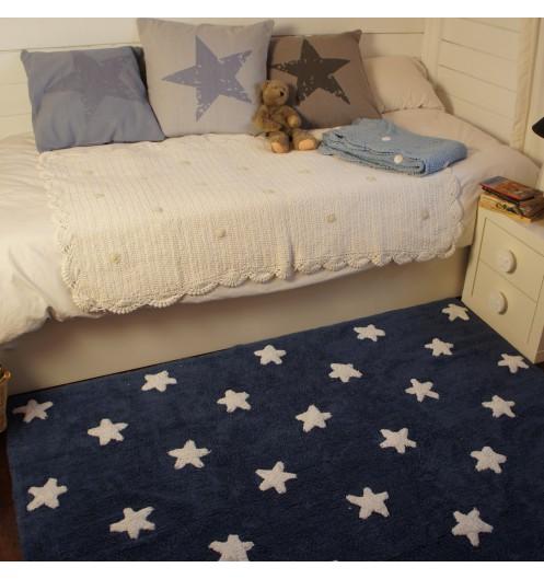 tapis b b lavable bleu marine toile lorena canals. Black Bedroom Furniture Sets. Home Design Ideas