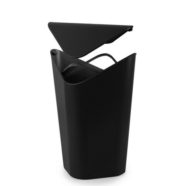 Poubelle salle de bain d\'angle noire Umbra - Accessoires de salle de ...