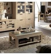 Table basse relevable bois massif hazel Banak