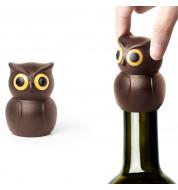 Bouchon de vin hibou marron Qualy