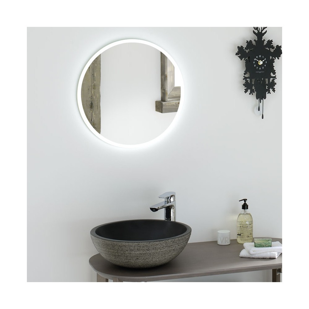 Beautiful miroir salle de bain vintage gallery awesome for Miroir led salle de bain