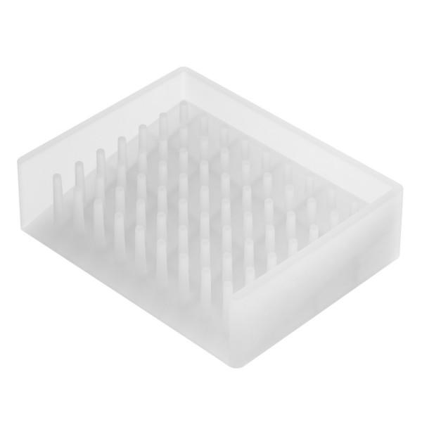 Porte savon design silicone transparent accessoires for Accessoire salle de bain porte savon