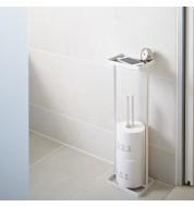 Porte papier toilette Tower blanc avec support Yamazaki