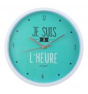 Horloge murale A l'heure