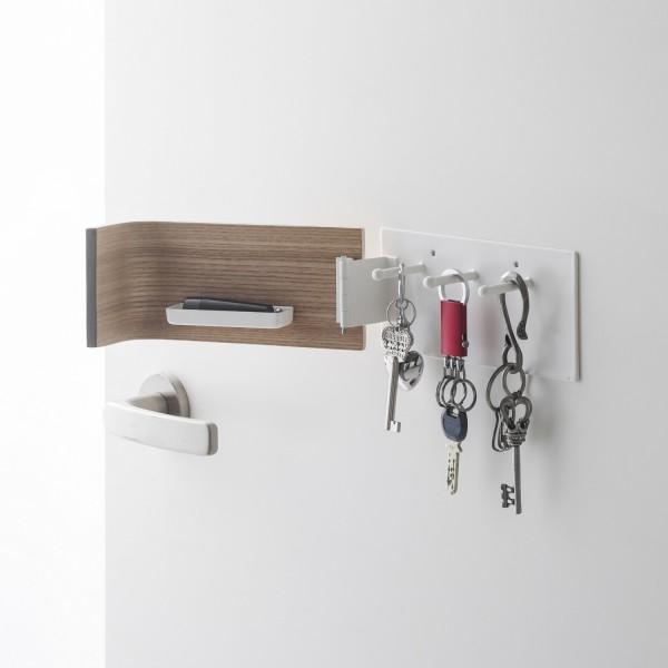boite cl s magn tique bois beige accessoires yamazaki. Black Bedroom Furniture Sets. Home Design Ideas