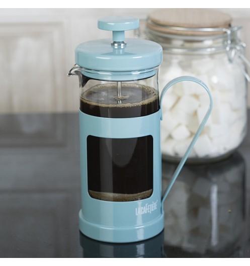 cafeti re piston bleue pour caf moulu la cafeti re. Black Bedroom Furniture Sets. Home Design Ideas