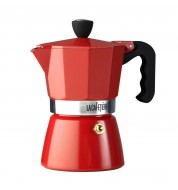 Cafetière italienne espresso rouge (200ml)