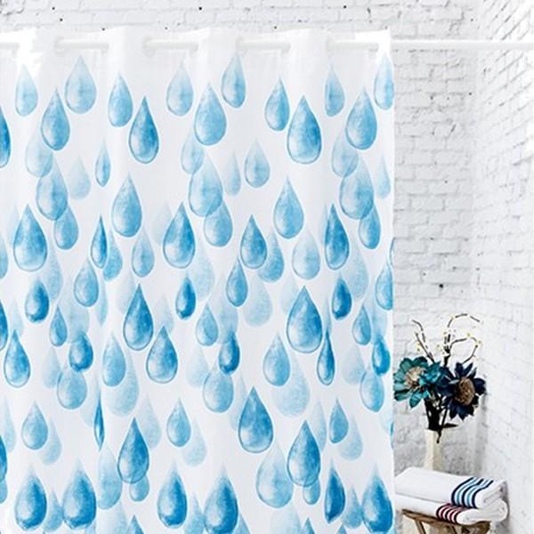 Rideau de douche design rideau pour salle de bain atenas - Rideau bain design ...