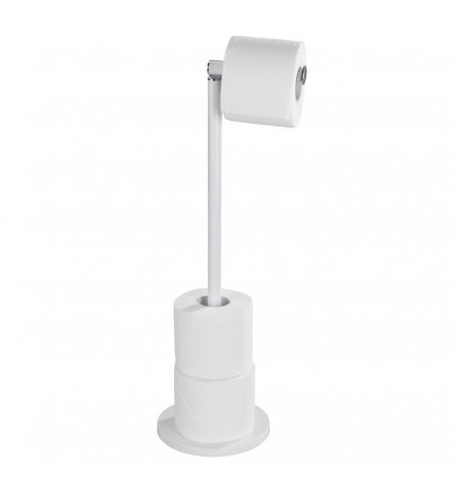 Porte papier wc sur pied blanc mat derouleur papier toilette wenko - Derouleur papier wc sur pied ...